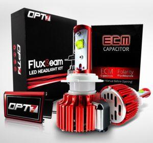 OPT7 LED Headlight Bulbs w Clear Arc-Beam Kit
