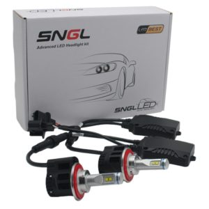 SNGL Super Bright LED Headlight Bulbs - Adjustable Focus Length Conversion Kit - H13 (9008)
