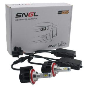 SNGL Super Bright LED Headlight Bulbs - Adjustable Focus Length Conversion Kit - H13 (9008)