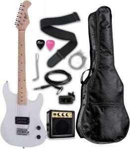 "Raptor 3/4 Scale 36"" Kids Child Starter Electric Guitar Pack"