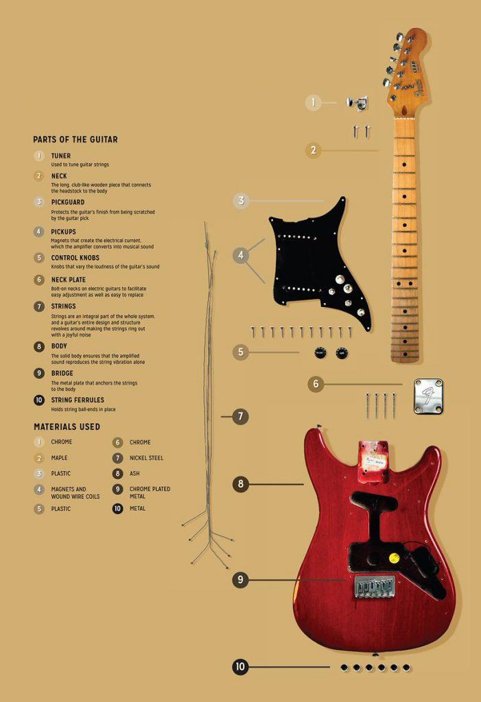 guitar parts infographic