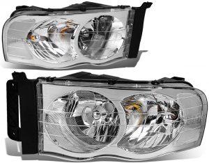 Auto Dynasty Pair of Chrome Housing Clear Corner Headlight