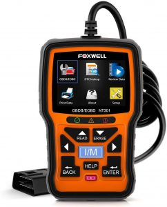FOXWELL NT301 OBD2 Scanner Professional Mechanic Tool for Check Engine Light
