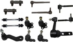 Parts Warehouse14 Pc Kit Front Upper Lower Ball Joints