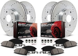 Power Stop K2164 Front and Rear Z23 Carbon Fiber Brake Pads
